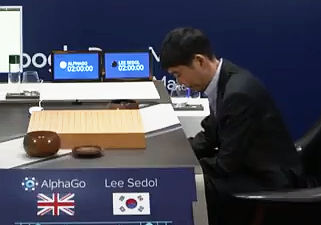Lee Sedol bowing before the start of game 3